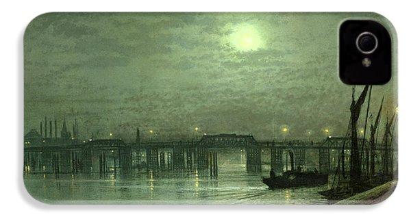 Battersea Bridge By Moonlight IPhone 4 / 4s Case by John Atkinson Grimshaw