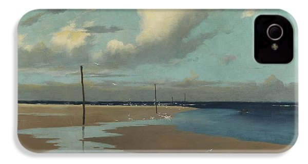 Beach At Low Tide IPhone 4 Case by Frederick Milner