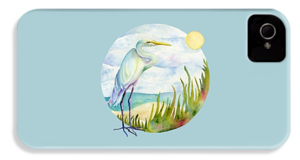 Beach Heron IPhone 4 Case by Amy Kirkpatrick