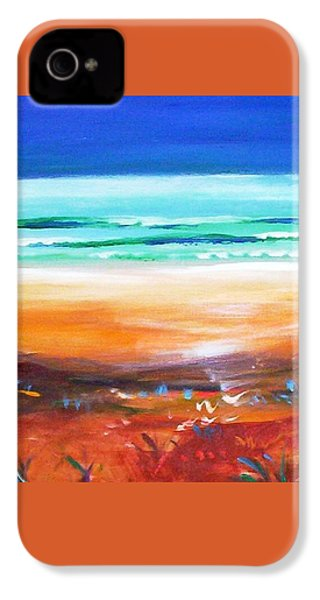 IPhone 4 Case featuring the painting Beach Joy by Winsome Gunning
