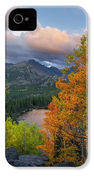 Bear Lake Autumn IPhone 4 Case by Aaron Spong