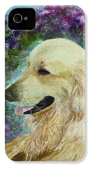 IPhone 4 Case featuring the painting Beautiful Golden by Claire Bull