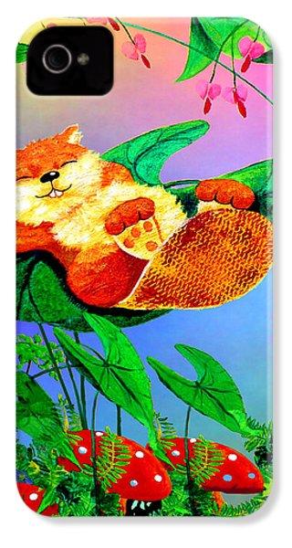 Beaver Bedtime IPhone 4 Case by Hanne Lore Koehler