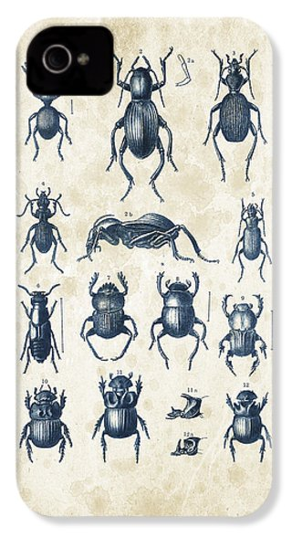 Beetles - 1897 - 01 IPhone 4 Case by Aged Pixel