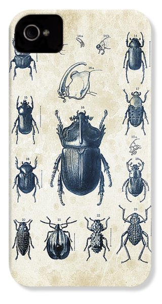 Beetles - 1897 - 02 IPhone 4 Case by Aged Pixel