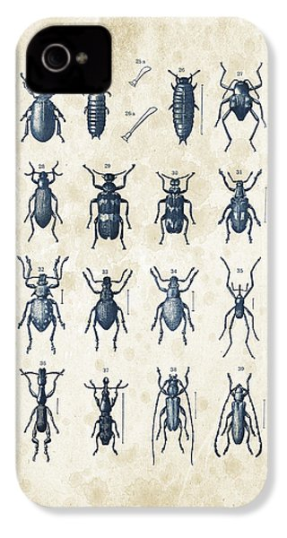 Beetles - 1897 - 03 IPhone 4 Case by Aged Pixel