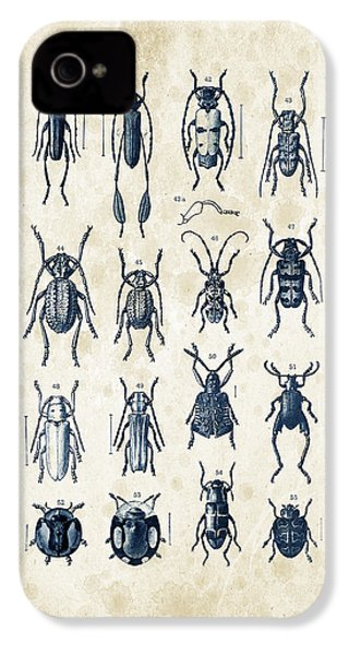 Beetles - 1897 - 04 IPhone 4 Case by Aged Pixel