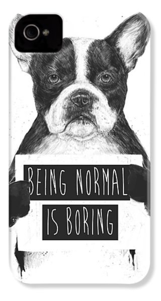 Being Normal Is Boring IPhone 4 Case by Balazs Solti