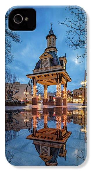 Bell Tower  In Beaver  IPhone 4 Case by Emmanuel Panagiotakis