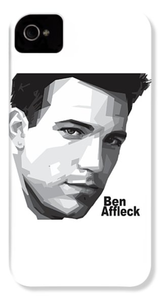 Ben Affleck Portrait Art IPhone 4 / 4s Case by Madiaz Roby