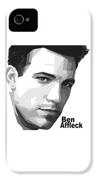Ben Affleck Portrait Art IPhone 4 Case by Madiaz Roby