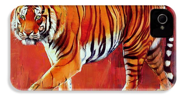 Bengal Tiger  IPhone 4 Case by Mark Adlington
