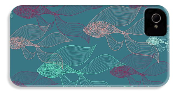 Beta Fish  IPhone 4 / 4s Case by Mark Ashkenazi