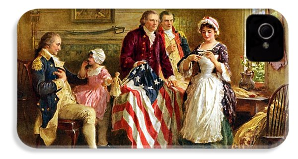 Betsy Ross And General George Washington IPhone 4 Case by War Is Hell Store