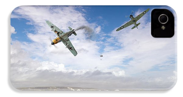 IPhone 4 Case featuring the photograph Bf109 Down In The Channel by Gary Eason