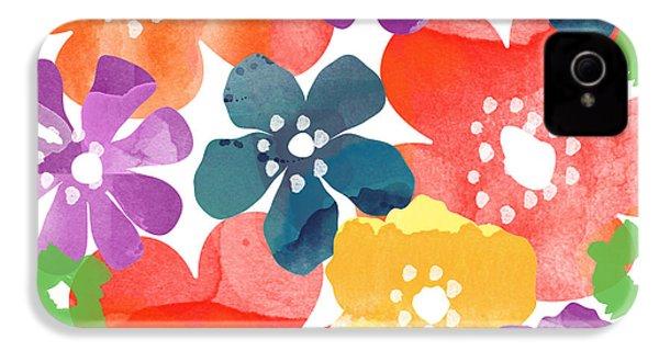 Big Bright Flowers IPhone 4 Case
