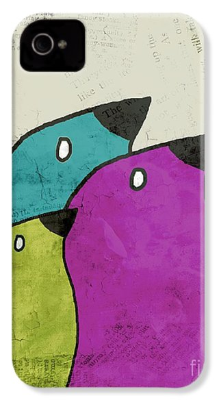 Birdies - V06c IPhone 4 Case by Variance Collections