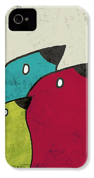 Birdies - V101s1t IPhone 4 Case by Variance Collections