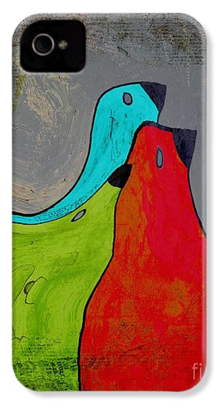 Birdies - V110b IPhone 4 Case by Variance Collections