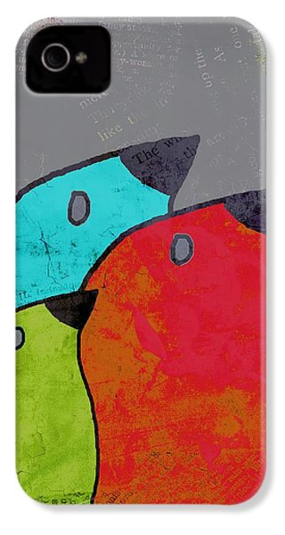 Birdies - V11b IPhone 4 Case by Variance Collections