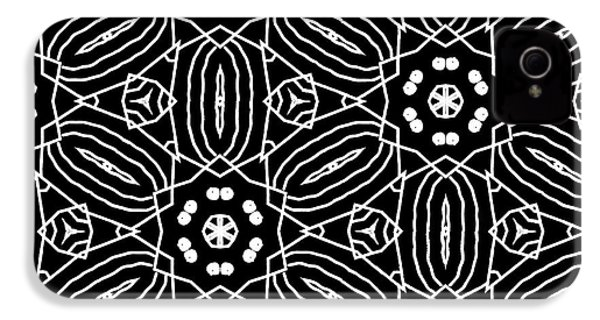 Black And White Boho Pattern 2- Art By Linda Woods IPhone 4 Case by Linda Woods