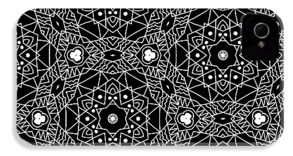 Black And White Boho Pattern 3- Art By Linda Woods IPhone 4 Case by Linda Woods