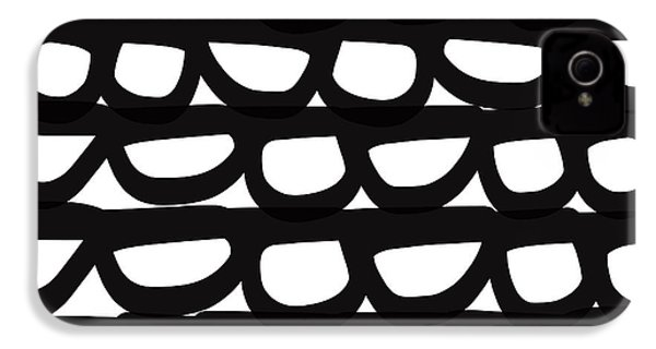 Black And White Pebbles- Art By Linda Woods IPhone 4 Case by Linda Woods