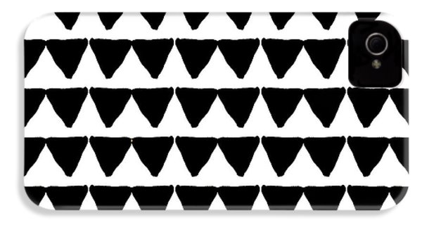 Black And White Triangles- Art By Linda Woods IPhone 4 Case by Linda Woods