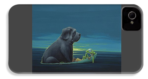 Black Dog IPhone 4 Case by Jasper Oostland
