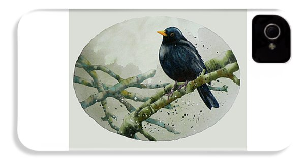 Blackbird Painting IPhone 4 Case by Alison Fennell