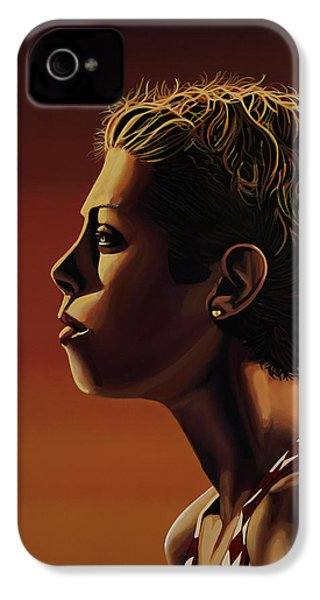 Blanka Vlasic Painting IPhone 4 Case by Paul Meijering