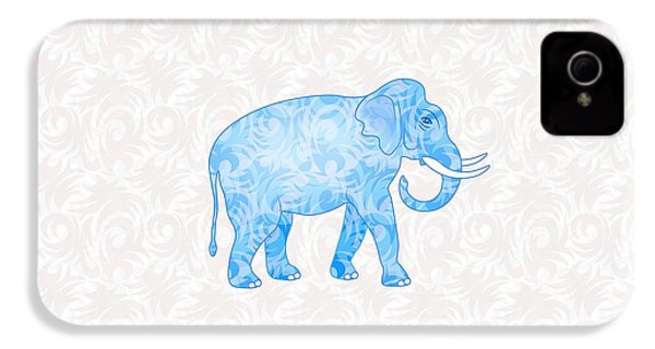 Blue Damask Elephant IPhone 4 / 4s Case by Antique Images