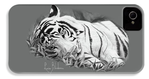 Blue Eyes - Black And White IPhone 4 / 4s Case by Lucie Bilodeau