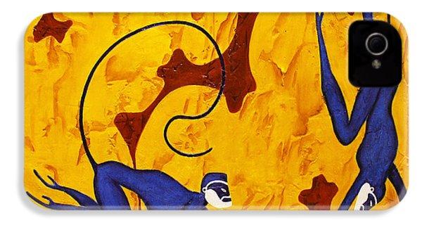 Blue Monkeys No. 45 IPhone 4 Case
