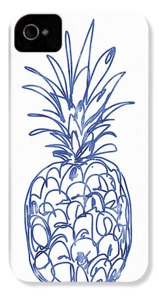 Blue Pineapple- Art By Linda Woods IPhone 4 Case