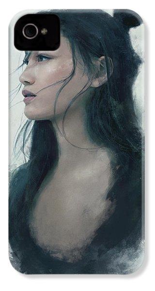 Blue Portrait IPhone 4 / 4s Case by Eve Ventrue