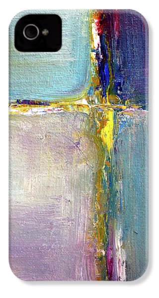 IPhone 4 Case featuring the painting Blue Quarters by Nancy Merkle