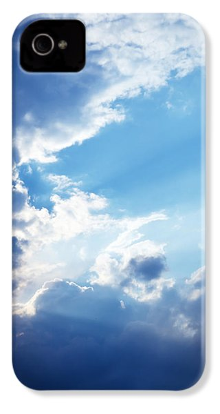 Blue Sky And Clouds With Sun Light IPhone 4 Case