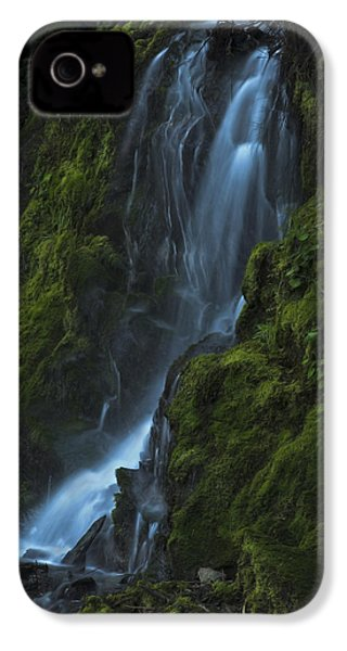 IPhone 4 Case featuring the photograph Blue Waterfall by Yulia Kazansky