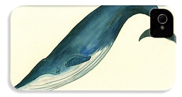 Blue Whale Painting IPhone 4 Case