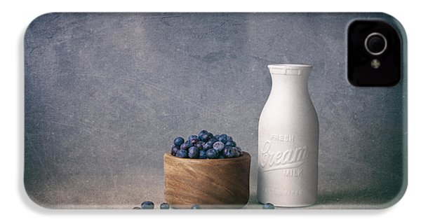 Blueberries And Cream IPhone 4 Case by Tom Mc Nemar