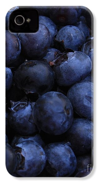 Blueberries Close-up - Vertical IPhone 4 Case by Carol Groenen