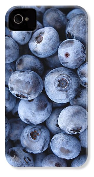 Blueberries Foodie Phone Case IPhone 4 Case by Edward Fielding