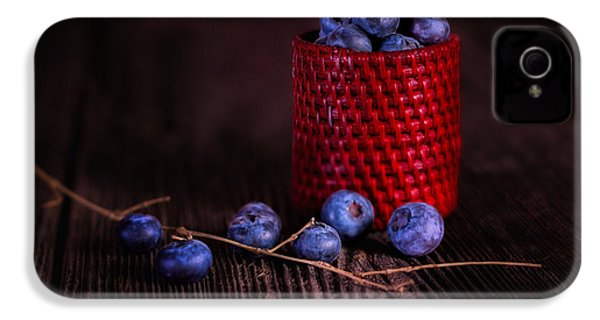 Blueberry Delight IPhone 4 Case by Tom Mc Nemar