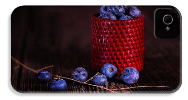 Blueberry Delight IPhone 4 Case by Tom Mc Nemar