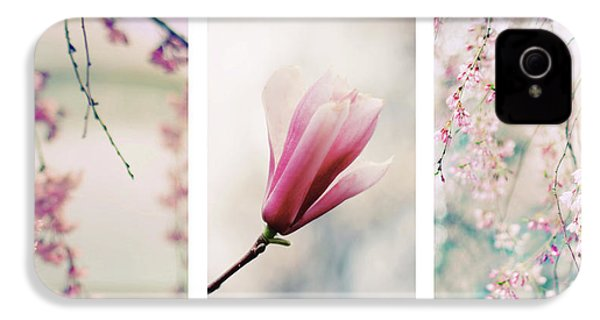 IPhone 4 Case featuring the photograph Blush Blossom Triptych by Jessica Jenney
