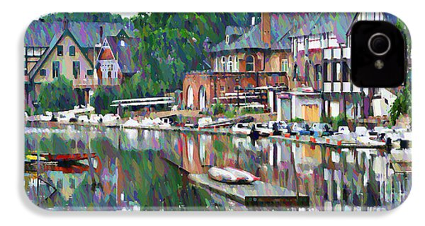 Boathouse Row In Philadelphia IPhone 4 Case by Bill Cannon
