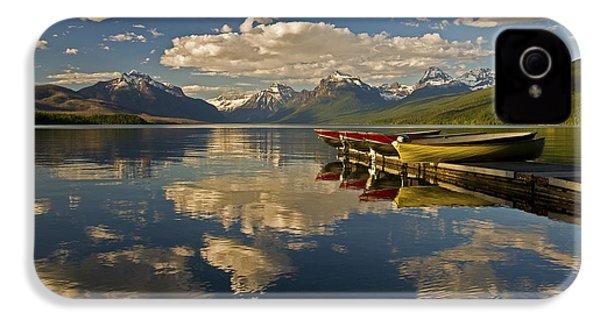 Boats At Lake Mcdonald IPhone 4 Case by Gary Lengyel