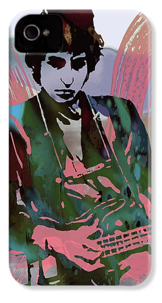 Bob Dylan Modern Etching Art Poster IPhone 4 / 4s Case by Kim Wang