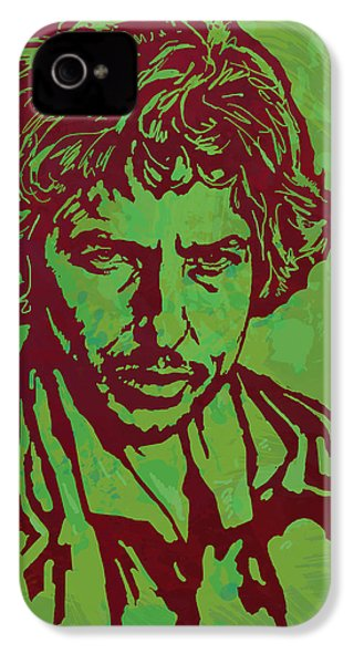 Bob Dylan Pop Art Poser IPhone 4 Case by Kim Wang